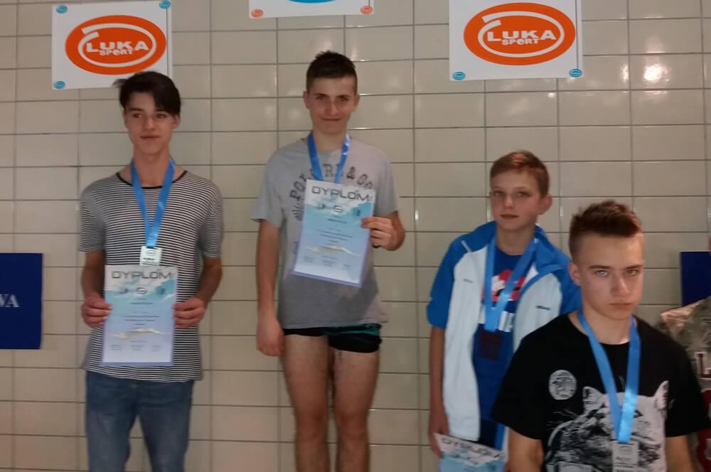 Franek Siwek dwukrotnym wicemistrzem Krakowa w pływaniu